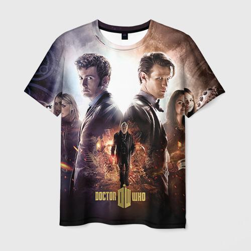 Мужская футболка 3D Доктор кто