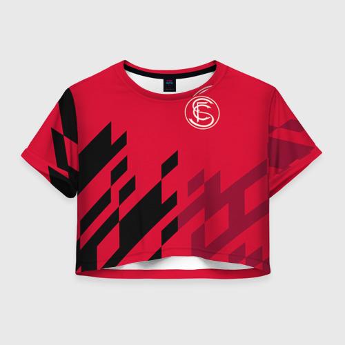 Женская футболка Crop-top 3D Севилья