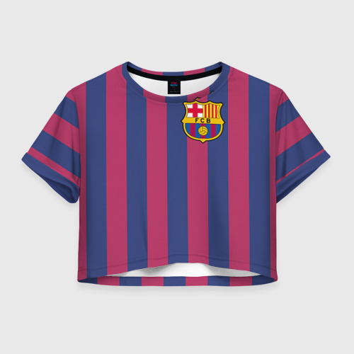 Женская футболка Crop-top 3D Messi