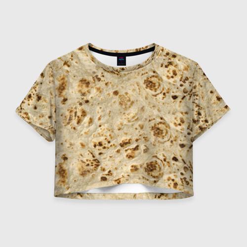 Женская футболка Crop-top 3D Лаваш