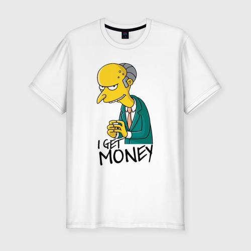 Мужская футболка хлопок Slim Mr Burns get money