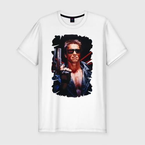 Мужская футболка хлопок Slim Шварценеггер (терминатор)