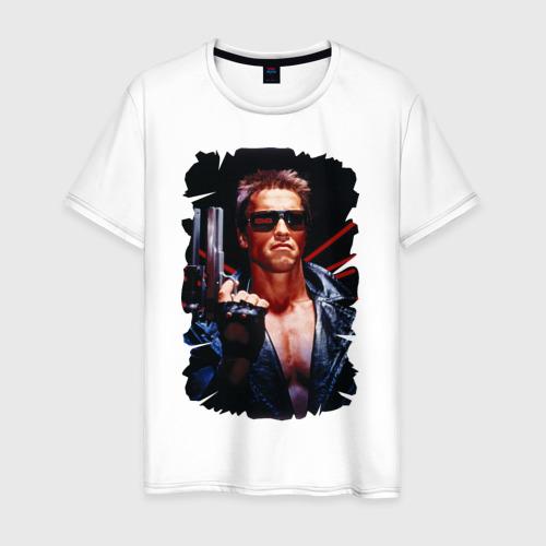 Мужская футболка хлопок Шварценеггер (терминатор)