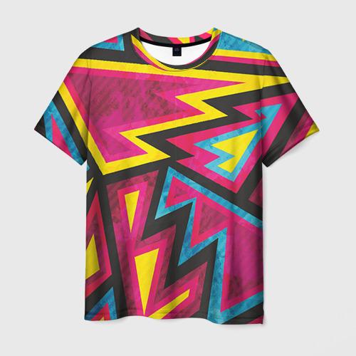 Мужская футболка 3D Геометрия