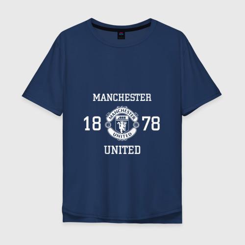 Мужская футболка хлопок Oversize Manchester United 1878