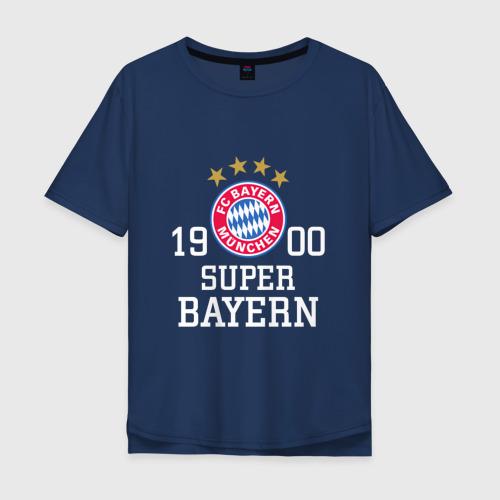 Мужская футболка хлопок Oversize Super Bayern