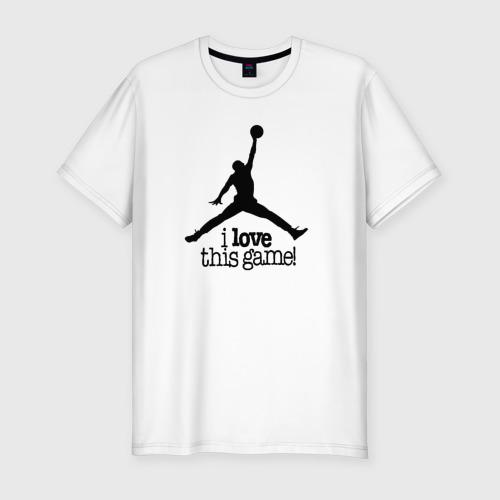 Мужская футболка хлопок Slim Баскетбол