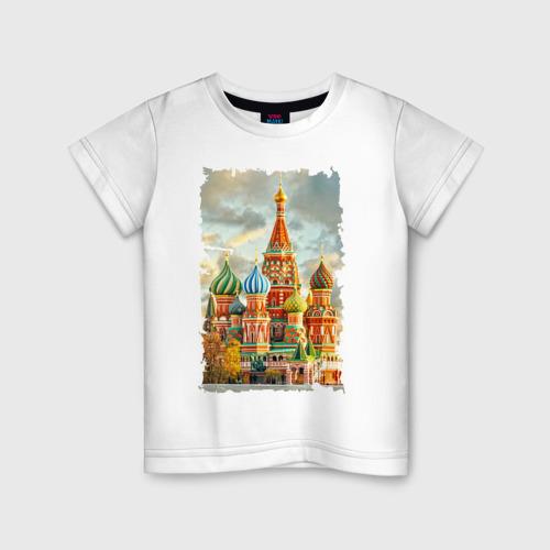 Детская футболка хлопок Собор Василия Блаженного