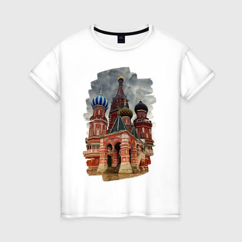 Женская футболка хлопок Собор Василия Блаженного