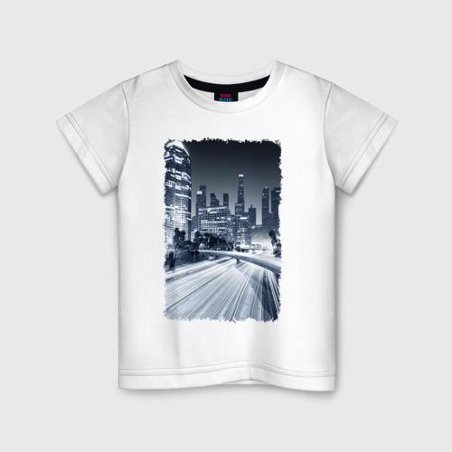 Детская футболка хлопок Ночной город