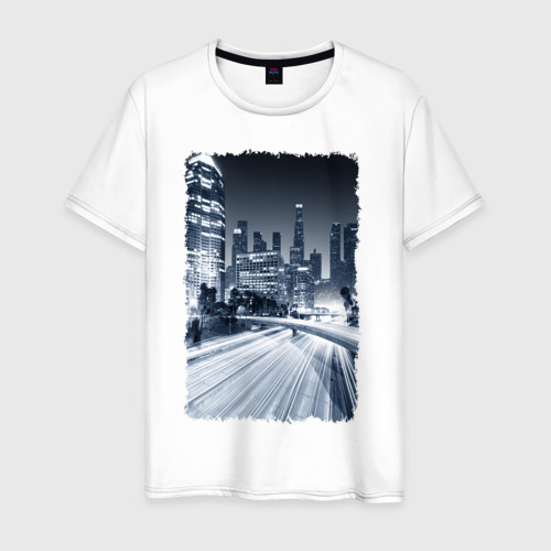 Мужская футболка хлопок Ночной город
