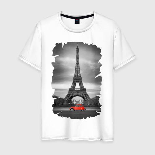 Мужская футболка хлопок Эйфелева башня