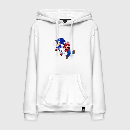 Мужская толстовка хлопок Sonic and Mario