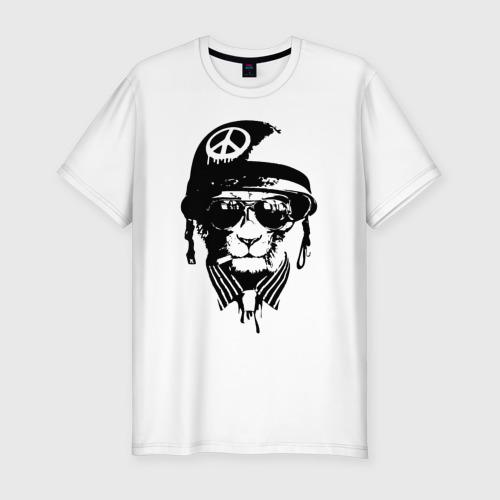 Мужская футболка хлопок Slim Pacific cat