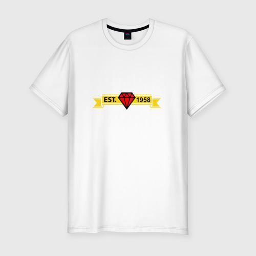 Мужская футболка хлопок Slim Рубин Казань white