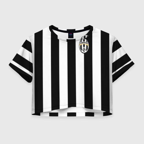 Женская футболка Crop-top 3D Juventus Tevez