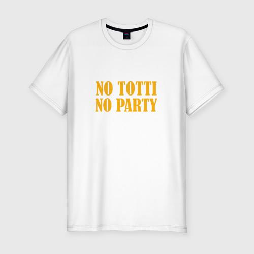 Мужская футболка хлопок Slim No Totti, No party