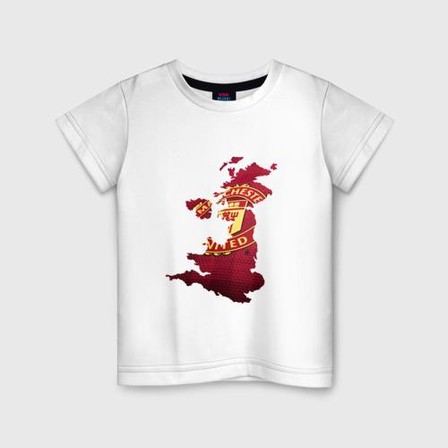 Детская футболка хлопок Манчестер Юнайтед