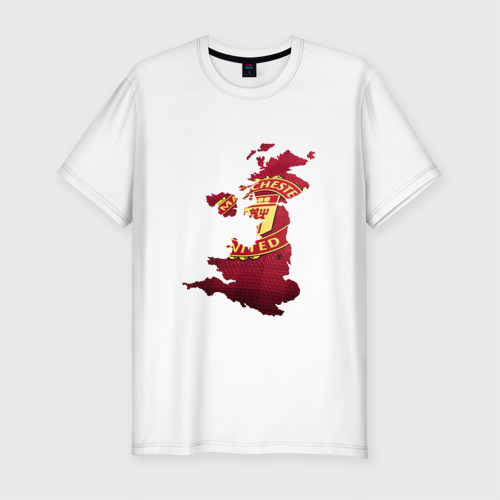 Мужская футболка хлопок Slim Манчестер Юнайтед