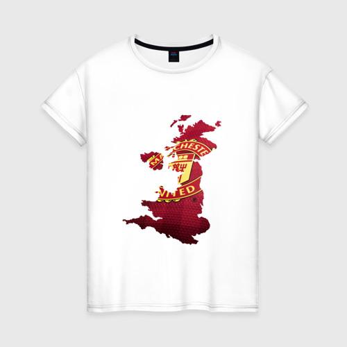 Женская футболка хлопок Манчестер Юнайтед