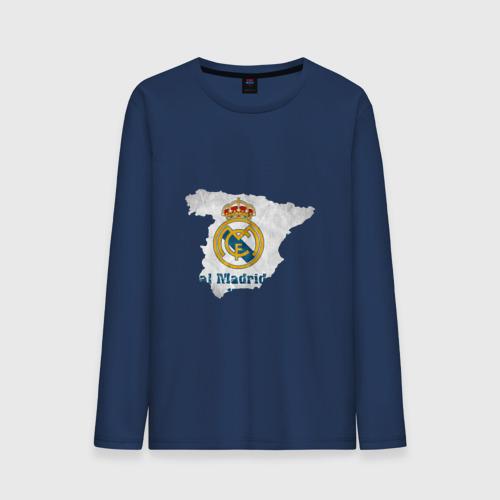 Мужской лонгслив хлопок Реал Мадрид