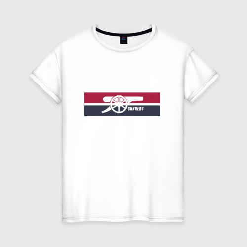 Женская футболка хлопок Arsenal Gunners