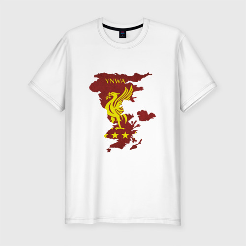 Мужская футболка хлопок Slim Ливерпуль