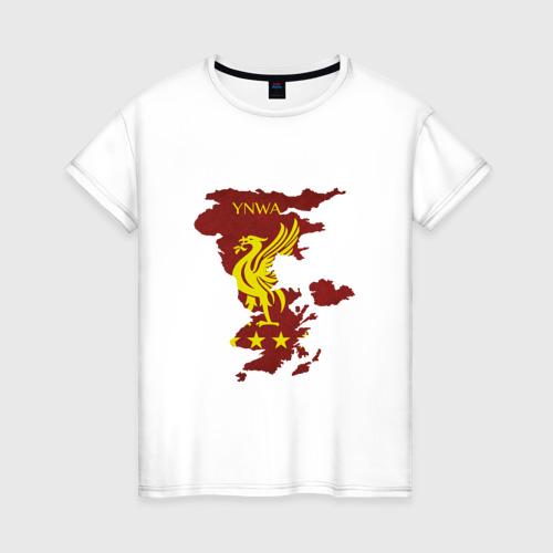 Женская футболка хлопок Ливерпуль