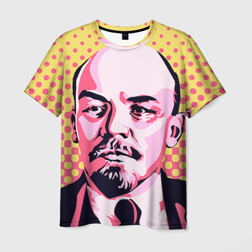Мужская футболка 3D Поп-арт. Ленин