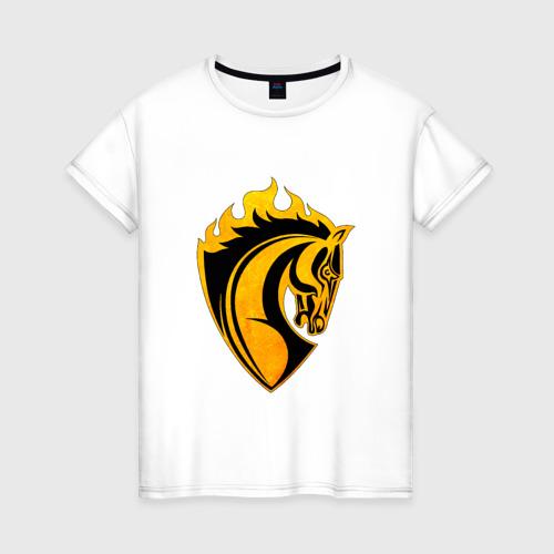 Женская футболка хлопок Конь символ