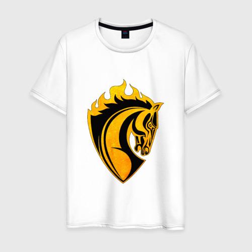 Мужская футболка хлопок Конь символ