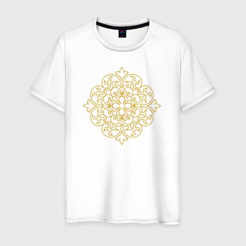 Мужская футболка хлопок Золотой орнамент