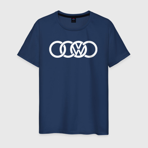 Мужская футболка хлопок AUDI VW