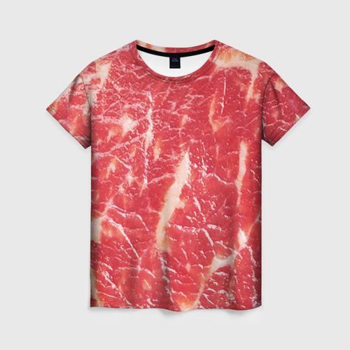 Женская футболка 3D Мясо