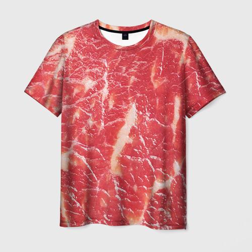 Мужская футболка 3D Мясо