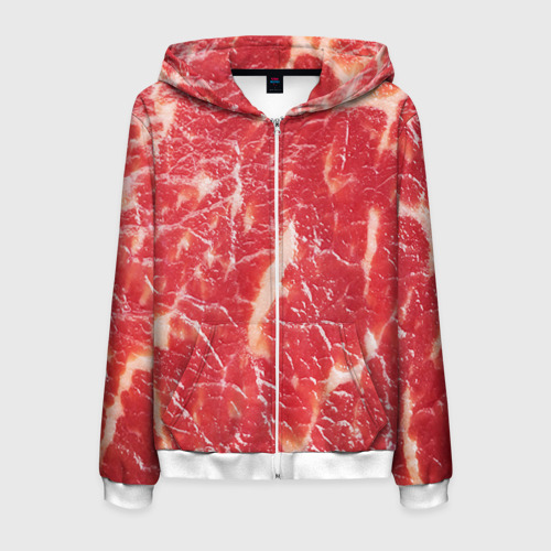 Мужская толстовка 3D на молнии Мясо