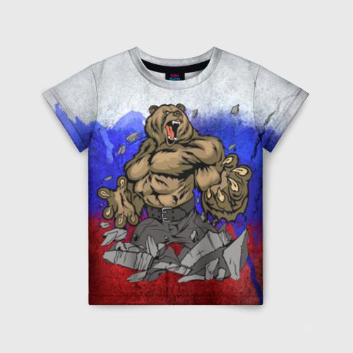 Детская футболка 3D Медведь