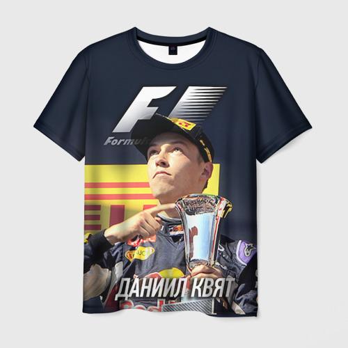 Мужская футболка 3D Даниил Квят