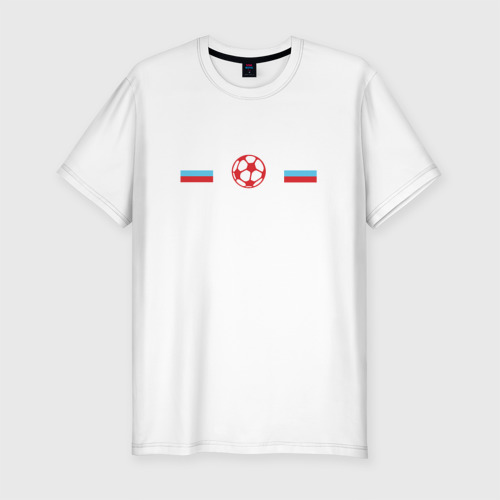 Мужская футболка хлопок Slim I love russian football