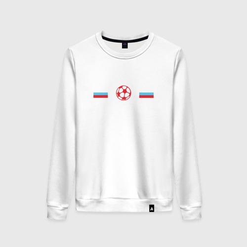 Женский свитшот хлопок I love russian football