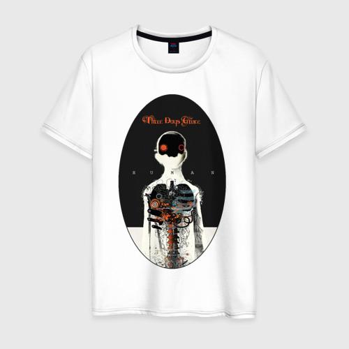 Мужская футболка хлопок Three Days Grace Human