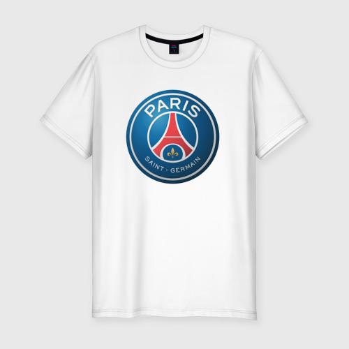 Мужская футболка хлопок Slim Paris Saint Germain