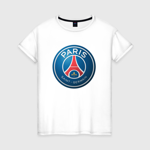 Женская футболка хлопок Paris Saint Germain