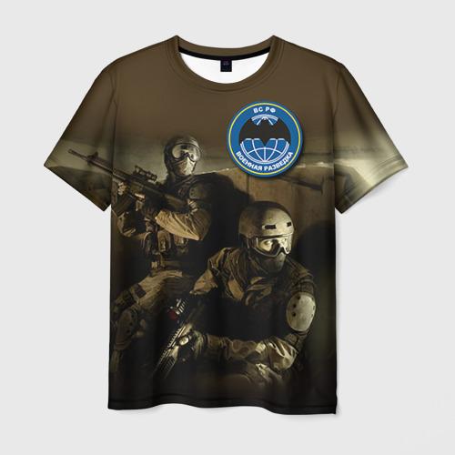 Мужская футболка 3D Военная разведка