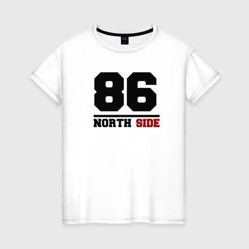 Женская футболка хлопок North side