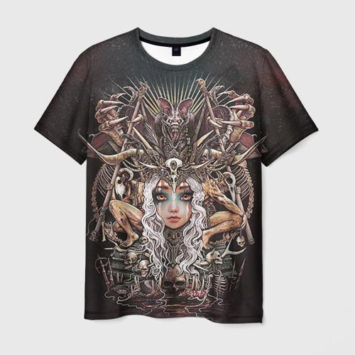 Мужская футболка 3D Королева мертвых