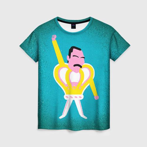 Женская футболка 3D Freddie Mercury