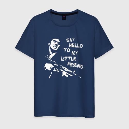 Мужская футболка хлопок Лицо со шрамом