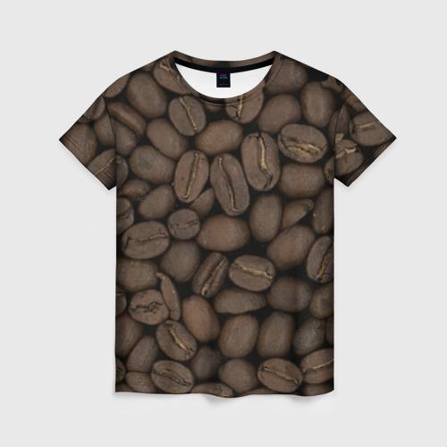 Женская футболка 3D Кофе