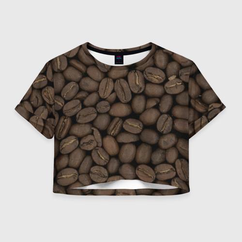 Женская футболка Crop-top 3D Кофе